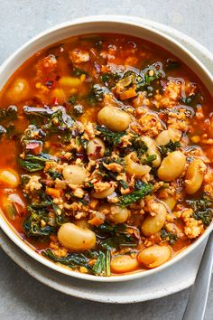 New Recipes, Soup Recipes, Dinner Recipes, Cooking Recipes, Healthy Recipes, Dinner Ideas, White Bean Soup, White Beans, Tuscan Bean Soup
