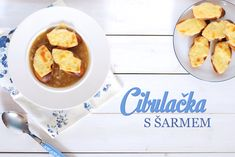 Francouzská cibulačka z české cibule - Kuchařka pro dceru Czech Recipes, French Toast, Tea Cups, Breakfast, Tableware, Czech Food, Prague, Dinnerware, Dishes