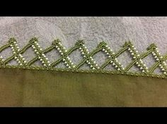 This Pin was discovered by Azr Crochet Border Patterns, Crochet Lace Edging, Crochet Edgings, Lace Saree, Crochet Cord, Hand Embroidery Flowers, Tatting Jewelry, Beading Tutorials, Crochet Projects