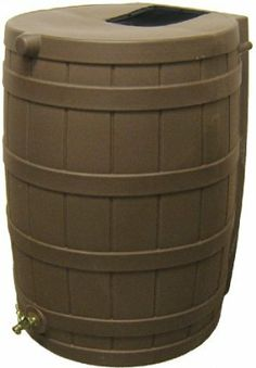 Sterling 156501 Rain Wizard 50, Oak by Sterling. $108.99. Will not rust, mold, or rot. Child and pet safe. Debris and bug screen. Brass spigot. 50-gallon capacity, oak colored. Sterling'S Rain Wizard 50 Is A 50-Gallon Rain Barrel That Will Help You Save Money! The Black Barrel Is Made From Ultraviolet Resistant Polyethylene. It Is Resistant To Rust, Mold, And Rotting And Features A Brass Spigot For Easy Hose Hookup. There'S Even A Debris And Bug Screen To Keep Your Water Clean! ...