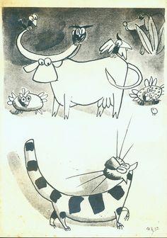 O Gato Malhado e a Andorinha Sinhá - Ilustração de Carybé