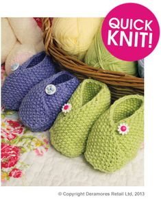 0acfa43cee9ad9 My favorite Knit Booties pattern for straight needles