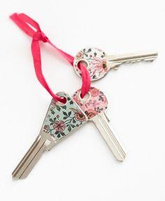llaves con estilo Llaves decoradas con cinta washi