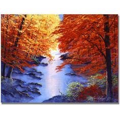 Trademark Art Misty Blue Morning Canvas Wall Art by David Lloyd Glover, Size: 18 x 24, Multicolor