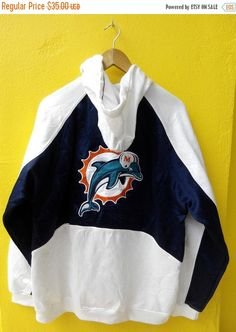 ON SALE 20% Vintage DOLPHINS Miami Reebok by REPEATFASHIONSTORE
