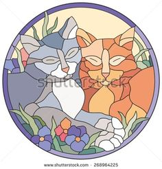 Find Stained Glass Window Cats stock images in HD and millions of other royalty-free stock photos, illustrations and vectors in the Shutterstock collection. Thousands of new, high-quality pictures added every day. Stained Glass Projects, Stained Glass Patterns, Coreldraw, Cat Quilt Patterns, Photoshop, Fused Glass Art, Bargello, Portfolio, Stained Glass Windows