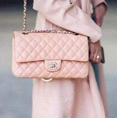 808467554264 Pastel pink Chanel Classic Flap bag #Chanelhandbags #WomensShoulderbags