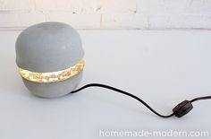 HomeMade Modern DIY EP37 Concrete Bowl Lamp Options
