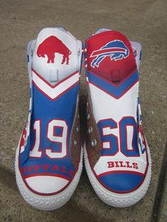 Hand painted Buffalo Bills custom kicks