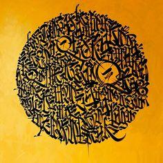 Black Sun @saidokins. Acrylic / canvas. #art #arte #arteurbana #streetart #drawing #acrylic #pebeo #conceptualart #concretpoetry #poetry #visualpoetry #letrismo #Calligraphy #caligrafia #CalligraphyMasters by saidokins