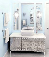 Picture Collection Website Free Standing Bathroom Vanities Bathroom A gray and silver bathroom