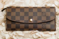 Louis Vuitton Emilie Wallet in Damier Eben - Hot Stamped Embossed