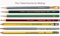The-7-Best-Pencils-to-Write-With Best Pencil, 2 Pencil, Dixon Ticonderoga, Wooden Pencils, Dark Mark, Japanese School, Tombow, Wooden Case, Photo Retouching