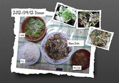For Dinner on 12/Sep/2012