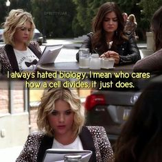 S3 E17 - Hanna - I always hated biology, I mean who cares how a cell divides, it just does.