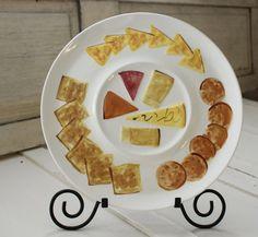 Vintage Los Angeles Pottery Cheese and Cracker by VandyleeVintage
