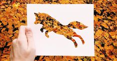 Nikolai Tolstyh takes photos of paper animal silhouettes in a natural setting. The combination is surprisingly perfect: the surroundings provide both color for the cutout and a scene to frame the animal.