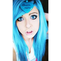 Pink And Blue Hair via Polyvore