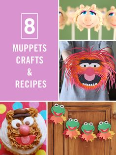 The Muppets are coming back to TV, and here are 8 great DIY crafts and recipes to celebrate. Kermit, Miss Piggy, Fozzie Bear and co. will be honored to have been the guests of your viewing party.