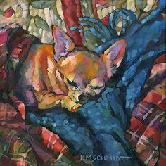 fauvism dog potraints | ... fauve impressionist pet portrait dog art • comfy cozy cottage