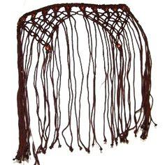 DIY? Brown Tribal Belly Dance Dancing Gothic Goth Gypsy Fringe Macrame Hip Scarf Belt | eBay
