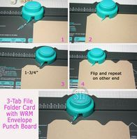 Make your own file tabs with the WeR Punch Board! Could make page dividers this way too.