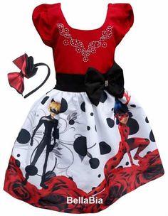 af6d707d1 Vestido Ladybug Festa Infantil Tema Aniversário Ladybug. - R  119