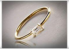 Goldringe - Trendiger Diamant Ring in 585/- (14K) Gold - ein Designerstück von JewelryNation bei DaWanda