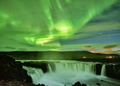 The Dance of the Aurora and the Waterfall by Kristin Repsher