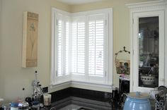 Full height shutters cover the full height of the window, this is our most popular and flexible installation styles offered by plantation shutters. Shutter Images, Kitchen Shutters, White Shutters, Curtains, London, Gallery, Home Decor, Style, Swag