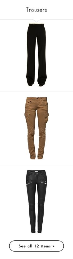 """""""Trousers"""" by chell-p ❤ liked on Polyvore featuring pants, bottoms, trousers, pantalones, black, wide-leg trousers, pleated trousers, wide leg pants, pleated wool pants and chloe trousers"""