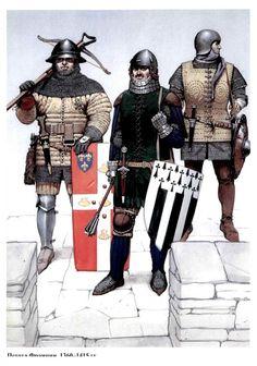 French infantrymen, 1360-1415 AD
