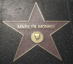 Marilyn Monroe Star on the Hollywood Walk of Fame, 1960