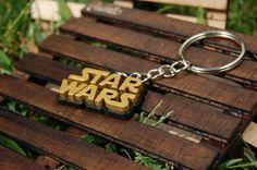 Star Wars Keychain golden wood / wood Keychain Star Wars Gold