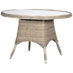 Outdoor Rattan Round Garden Table ($535) ❤ liked on Polyvore featuring home, outdoors, patio furniture, outdoor tables, outside patio tables, outdoor table, outdoor patio tables, outdoor garden furniture and outdoor furniture