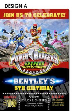 Power Ranger Invitation, Power Ranger Birthday,Dino Super Charge Birthday Invitation,Power Ranger Dino Super Charge Party,Birthday Party by Uprintparty on Etsy https://www.etsy.com/listing/295345625/power-ranger-invitation-power-ranger