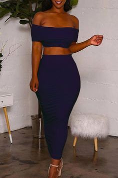 Lovely Euramerican Dew Shoulder Blue Knitting Two-piece Skirts Set Wholesale Clothing Online Store. We Offer Top Good Quality Cheap Clothes For Women And Men Clothing Wholesaler, # Dope Outfits, Cute Summer Outfits, Classy Outfits, Trendy Outfits, Girl Outfits, Fashion Outfits, Swag Outfits, Fashion Styles, Fashion Ideas