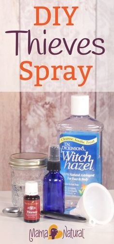 thieves oil is a super effective bacteria killer, & can also fight mold, candida, fungus & parasites. Here's an easy way to make your own using Witch Hazel, Young Living Thieves Oil drops & distilled water . Essential Oil Spray, Yl Oils, Natural Essential Oils, Essential Oil Blends, Natural Oils, Thieves Essential Oil, Doterra Oils, Natural Beauty, Young Living Oils