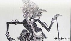"""Schattenspielfigur, Indonesien, Wayang Kulit - Grenzgänger zwischen Schein und Sein - Gedanken zum Schattenspiel  Eine """" kleine erhellte Wand """", der Spielschirm, bildet die Grenze..."""