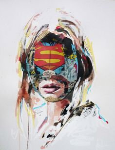 Sandra Chevrier's mixed media works on paper are a mash-up of painting, comics and fashion illustration.