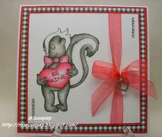 Beccy's Place - Spunky Valentine Digital Image, Valentines, Day, Places, Frame, Cards, Animals, Decor, Valentine's Day Diy