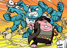 Amazing World of Gumball -Jojo Reference Anime Meme, Jojo Bizarre Adventure, Jojo Memes, Anime Crossover, Funny Comics, Character Art, Funny Pictures, Funny Memes, Sketches