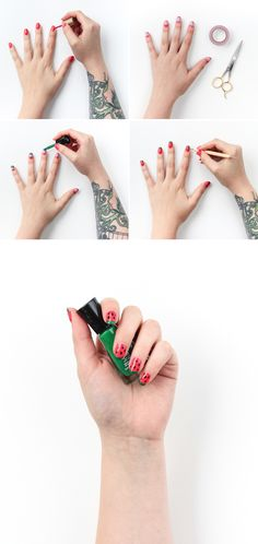 Get your nails ready for summer  with this watermelon nail art tutorial!