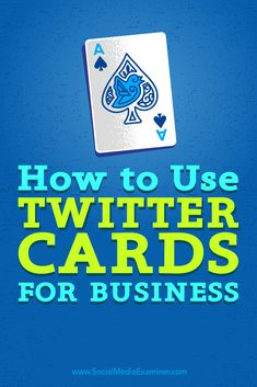 Are you maximizing your Twitter marketing exposure?    Twitter cards help you attract more attention in the news feed, mine valuable analytics, and get better results from your ads.    In this article, you'll discover how to use Twitter cards to enhance your exposure. Via @smexaminer.