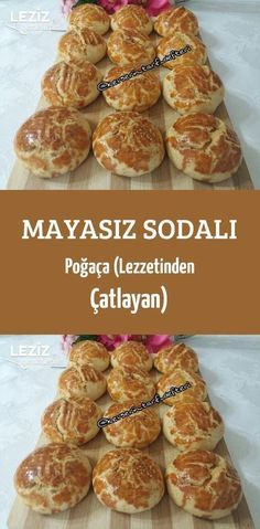 Yeast-Free Soda Pastry (Cracking from Taste) – My Delicious Food - Germany Rezepte Dinner Rolls Easy, Pizza Recipes, Cooking Recipes, Tasty, Yummy Food, Turkish Recipes, Bakery, Brunch, Food And Drink