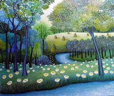 """Landscape"", 1999. By the Croatian painter Dusanka Petrovic."