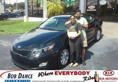 Congratulations to Rinal Patel on your #Kia #Optima purchase from Joe Prosch at Bob Dance KIA! #NewCar