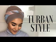 In this video I am showing you my latest favorite Turban Style. Either sporty or elegant, this style will absolutely fit to your outfits. Tie A Turban, Hijab Turban Style, Mode Turban, Head Turban, Turban Tutorial, Hijab Style Tutorial, Hair Scarf Styles, Hijab Styles, Soft Grunge Hair