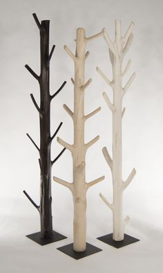 Gobi Coat Tree - Organic reclaimed coat rack made from fallen trees Tree Coat Rack, Diy Coat Rack, Coat Tree, Coat Racks, Metal Coat Hangers, Standing Coat Rack, Handbag Storage, Coat Stands, Steel Rod