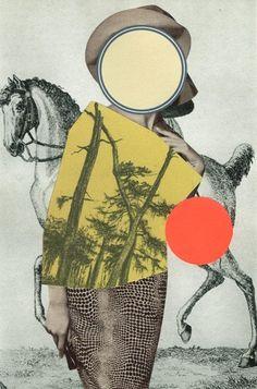 https://flic.kr/p/s9ESF4 | © Susanne Breuss: Blanker Irrsinn, Collage (20,2 x 13,2 cm), 3/2015